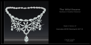 "Diamond necklace is from the ""Wild Swans"" set from Chop Zuey."