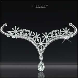 "Tiara featured is from the ""Wild Swans"" set from Chop Zuey."