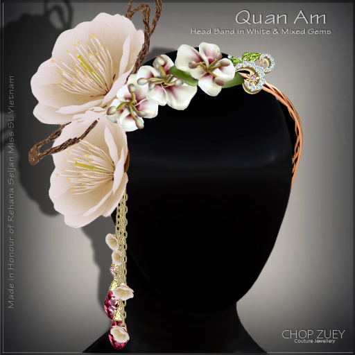 Quan Am HeadBand-Wht