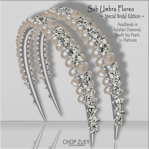 Sub Umbra Floreo Headband - Special Bridal Edition