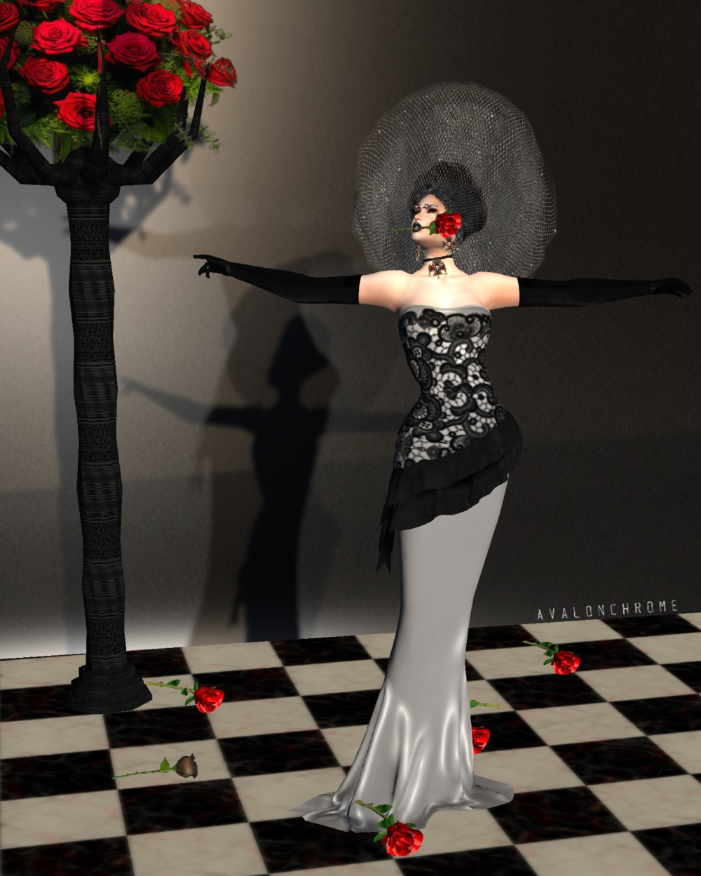 Full Gown Best AAA ONE red rose